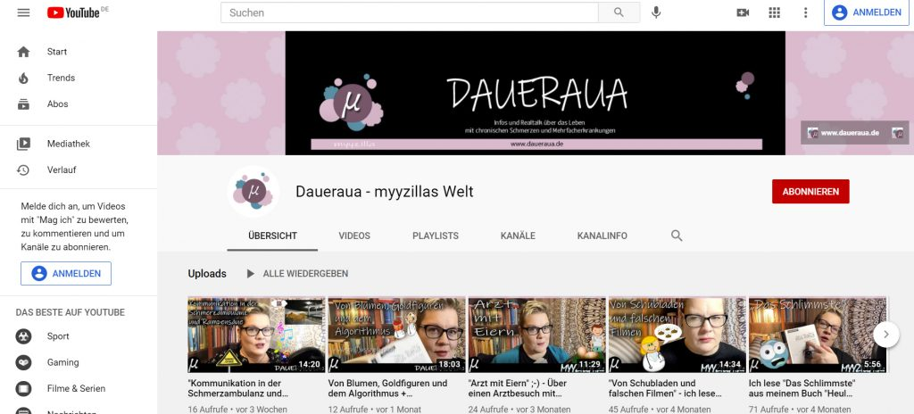 Daueraua - myyzillas youtube Kanal